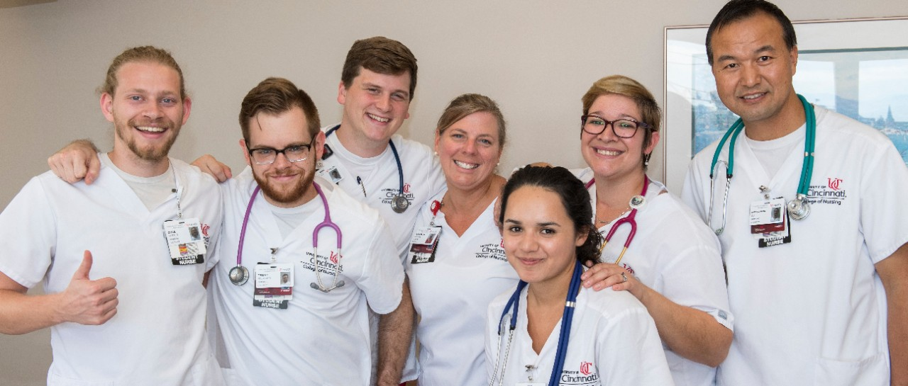 College of Nursing students during clinical experience at UCMC.